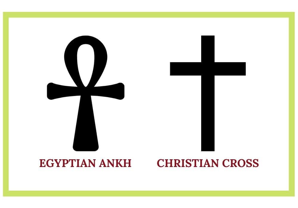Ankh vs cross symbol