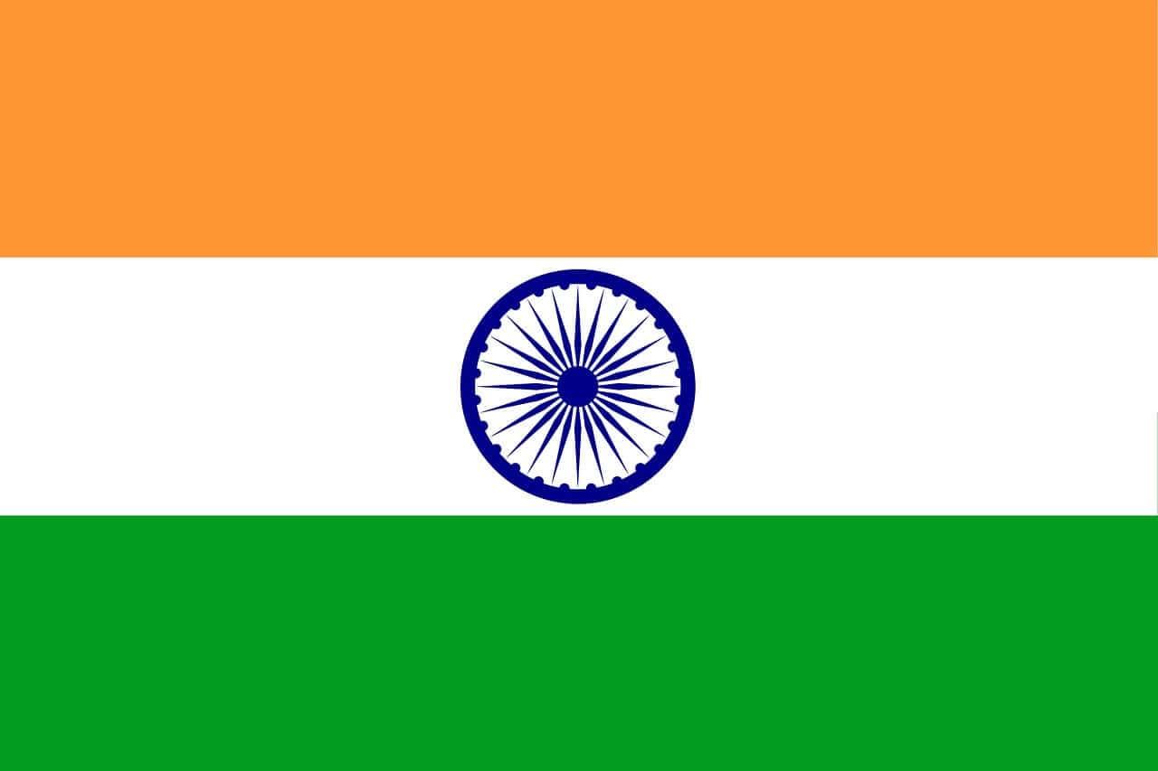 Indian flag with ashoka chakra