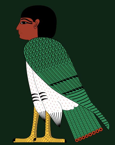 Egyptian ba symbol