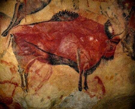 Cave of altamira red bison