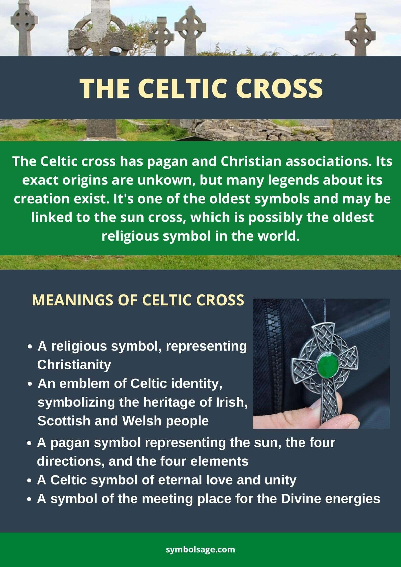 Celtic cross meaning and history infographic