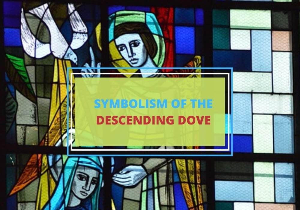 Descending dove symbol