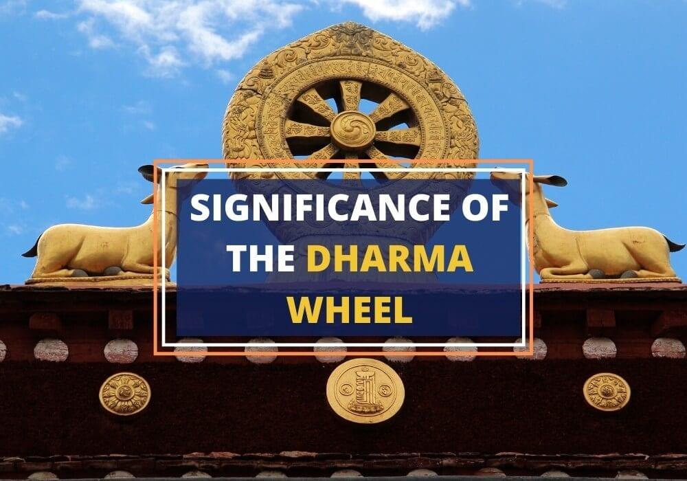 Dharma chakra wheel symbolism