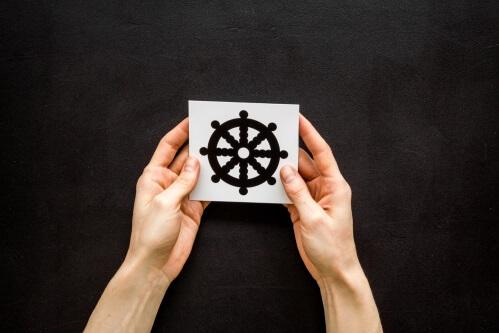 Dharma wheel symbolism