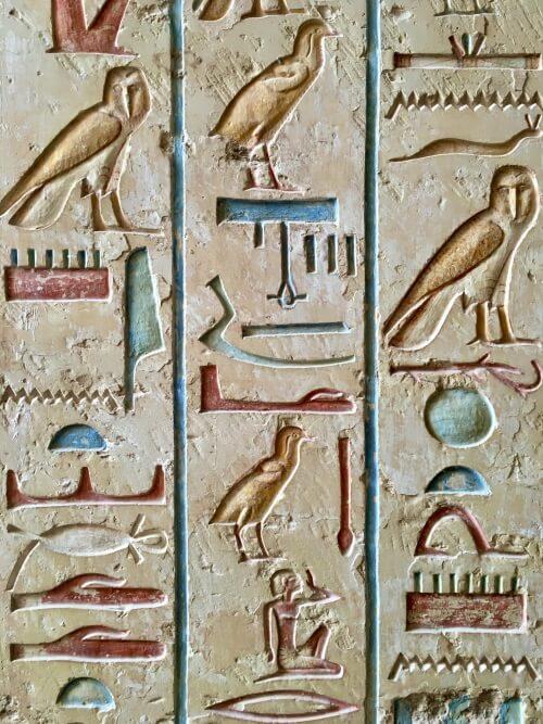 Egyptian symbols hieroglyphs
