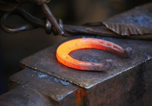 Forging horseshoe