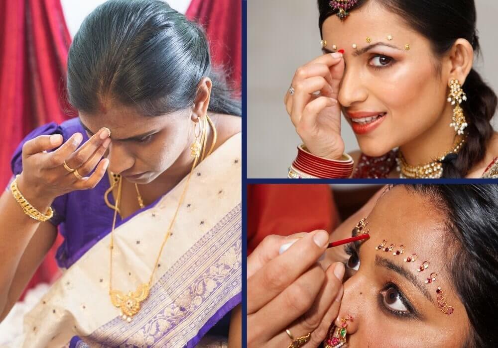 How to apply bindi