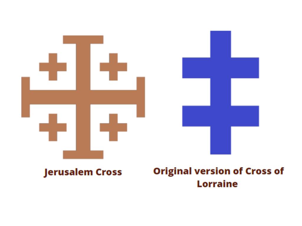 Jerusalem cross vs lorraine cross