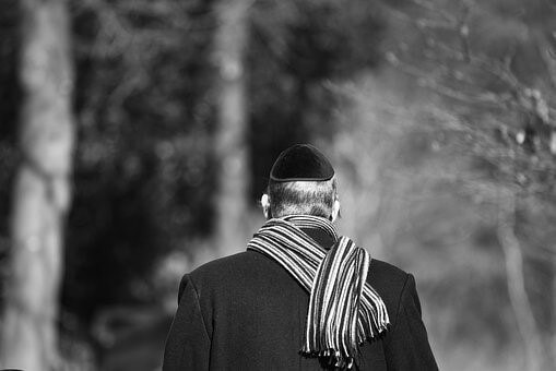 Man wearing kippah