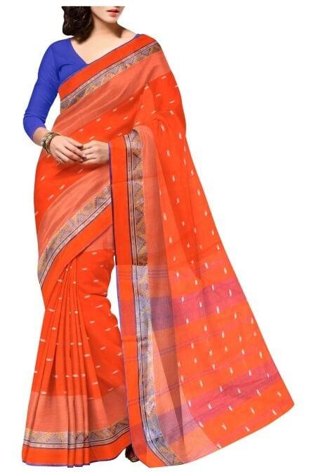 orange saree indian