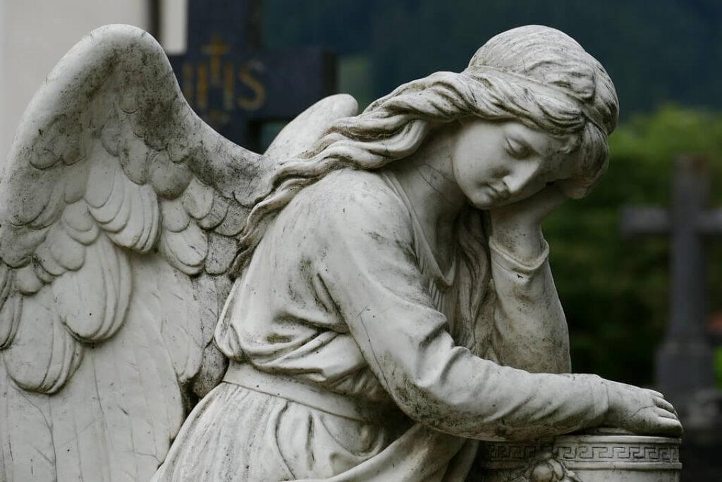 Sad angel symbol