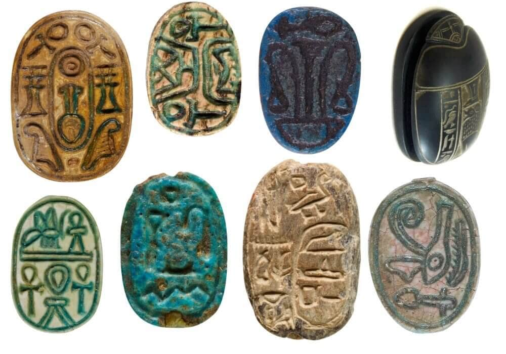 Scarab symbol amulet collection