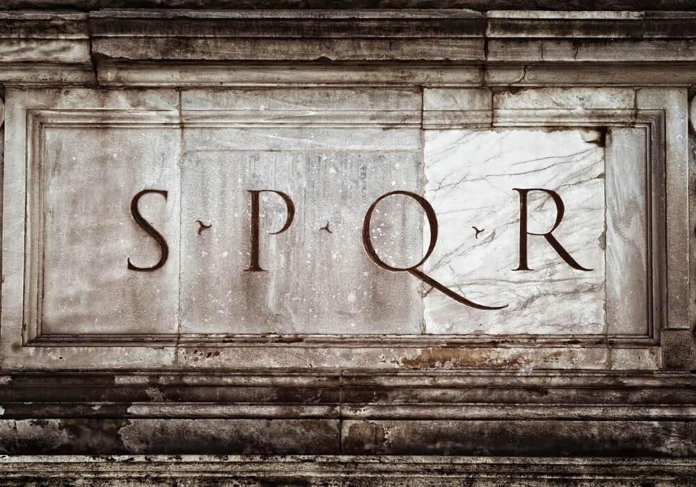 spqr roman symbol
