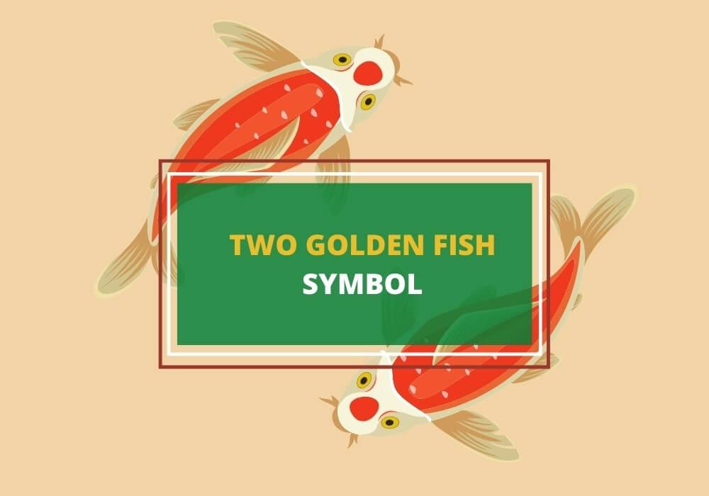 two golden fish symbol