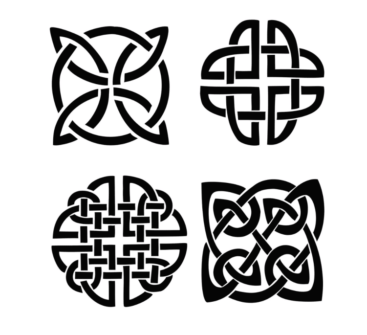 Types of celtic shield knots
