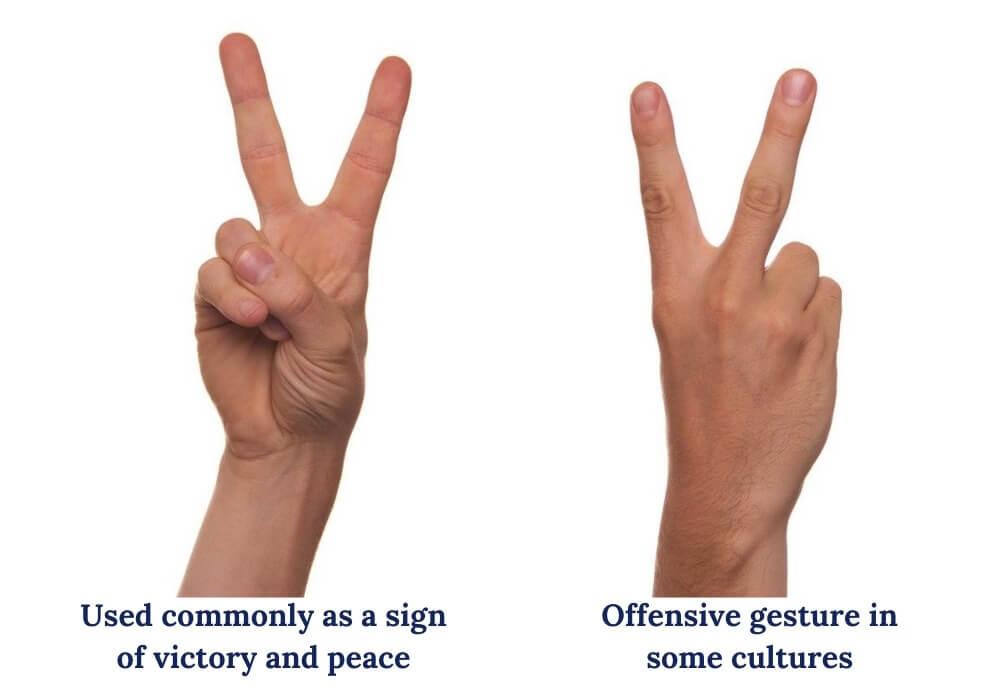 V sign variations