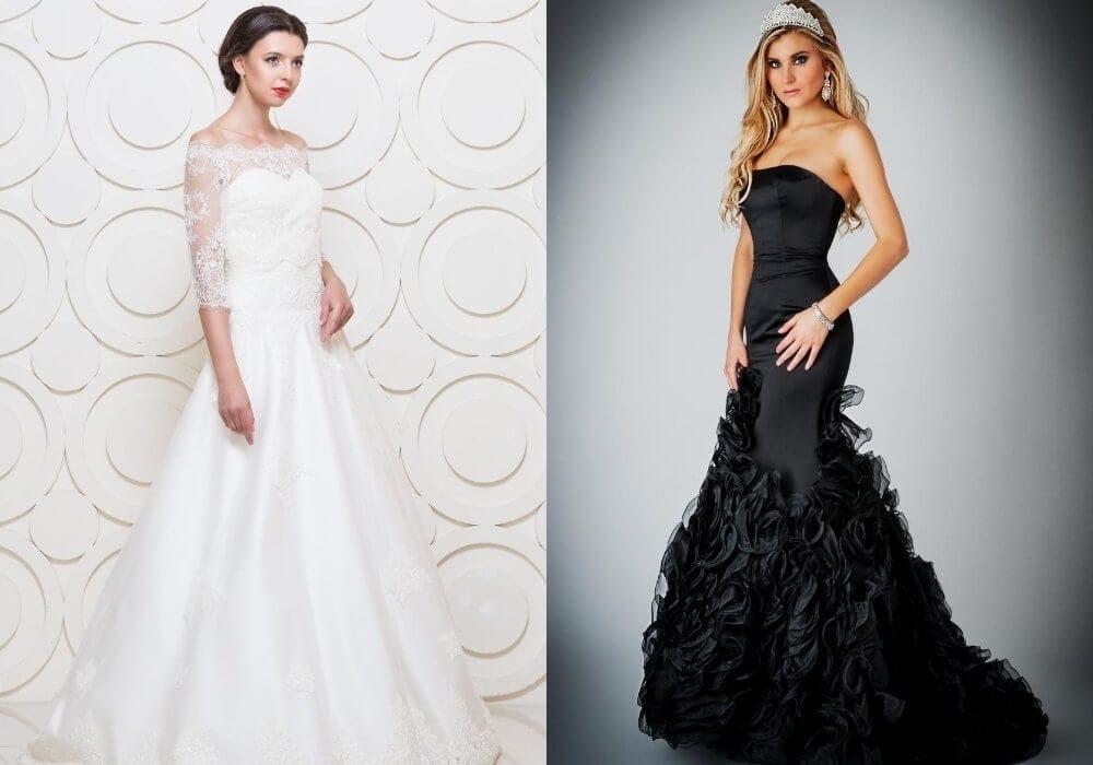 Black vs white wedding gown symbolism