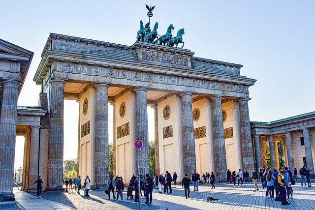 Brandenburg gate symbol of Germany
