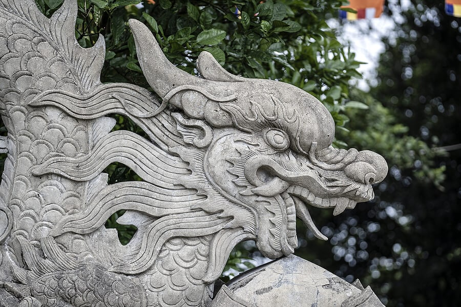 Buddhist dragon at a temple