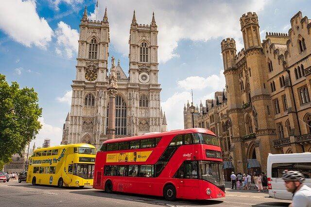 Double decker bus London