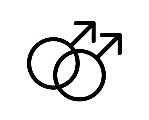 Double male symbol