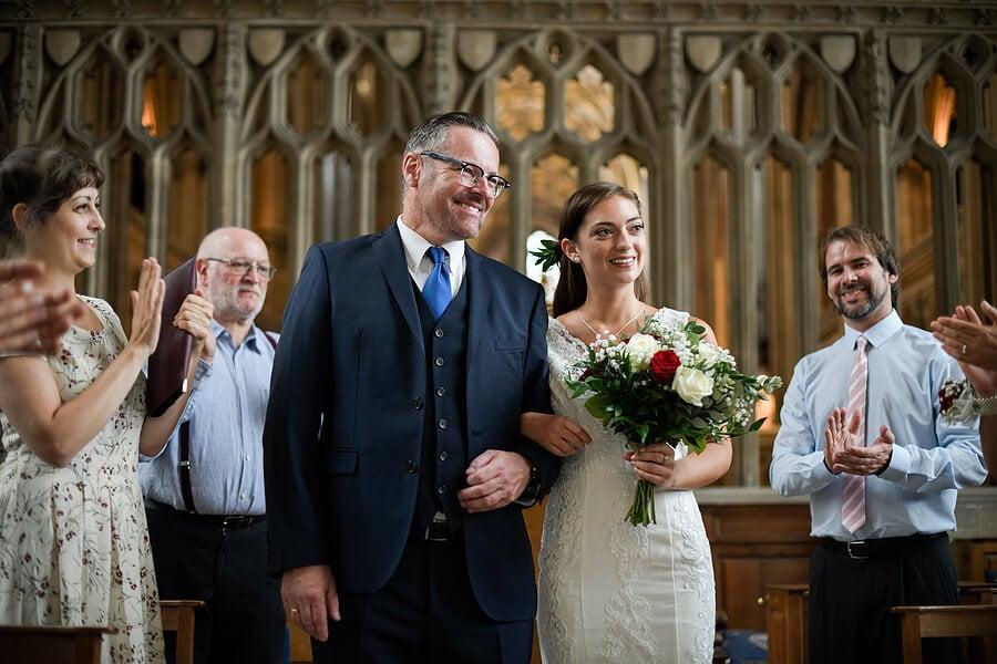 Father walking bride down