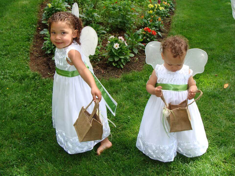 Flower girls with baskets
