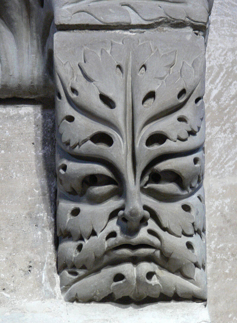 Green man head