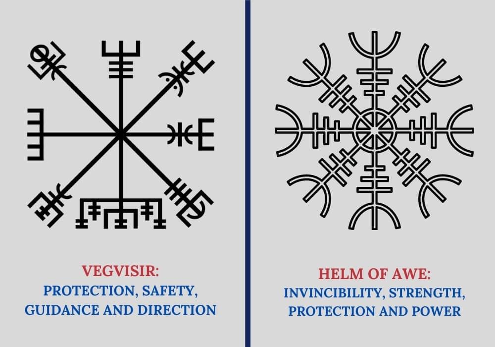 Helm of awe vs vegvisir symbols
