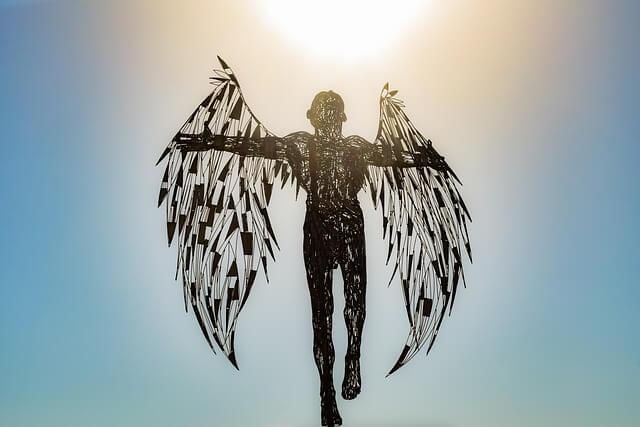 Icarus daedalus flying
