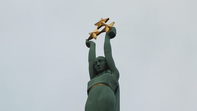 Latvian freedom monument