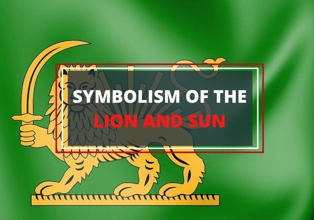 Lion and sun symbol