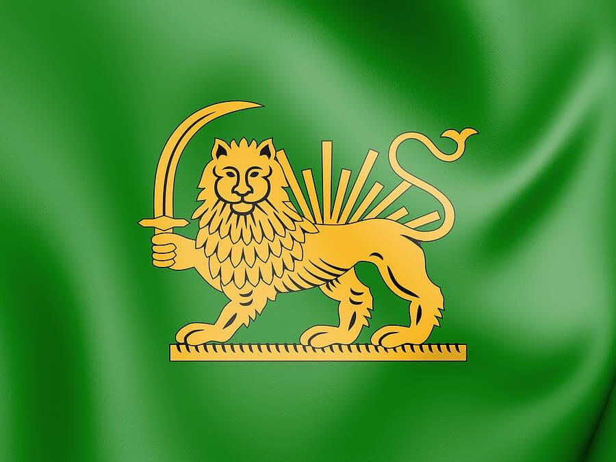 Persian lion and sun symbol