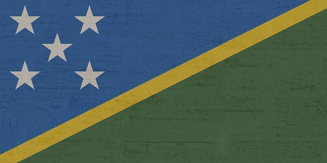 Quincunx flag of Solomon islands