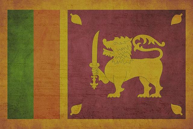 Sri Lankan lion and sword flag