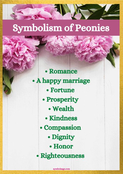 Peonies Symbolism