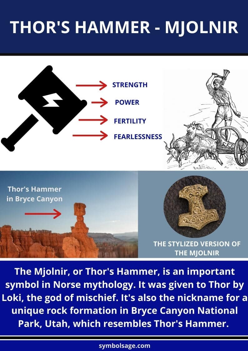 thor's hammer mjolnir symbolism and meaning