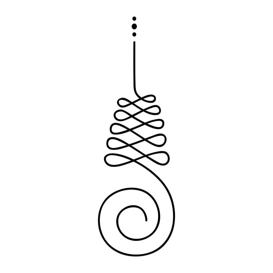 Unalome symbol