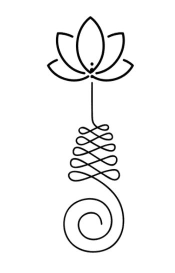 Unalome with lotus