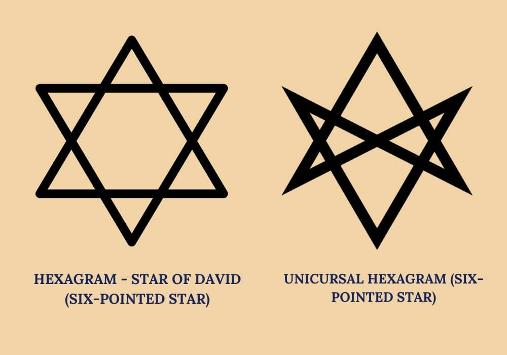 unicursal hexagram vs star of David