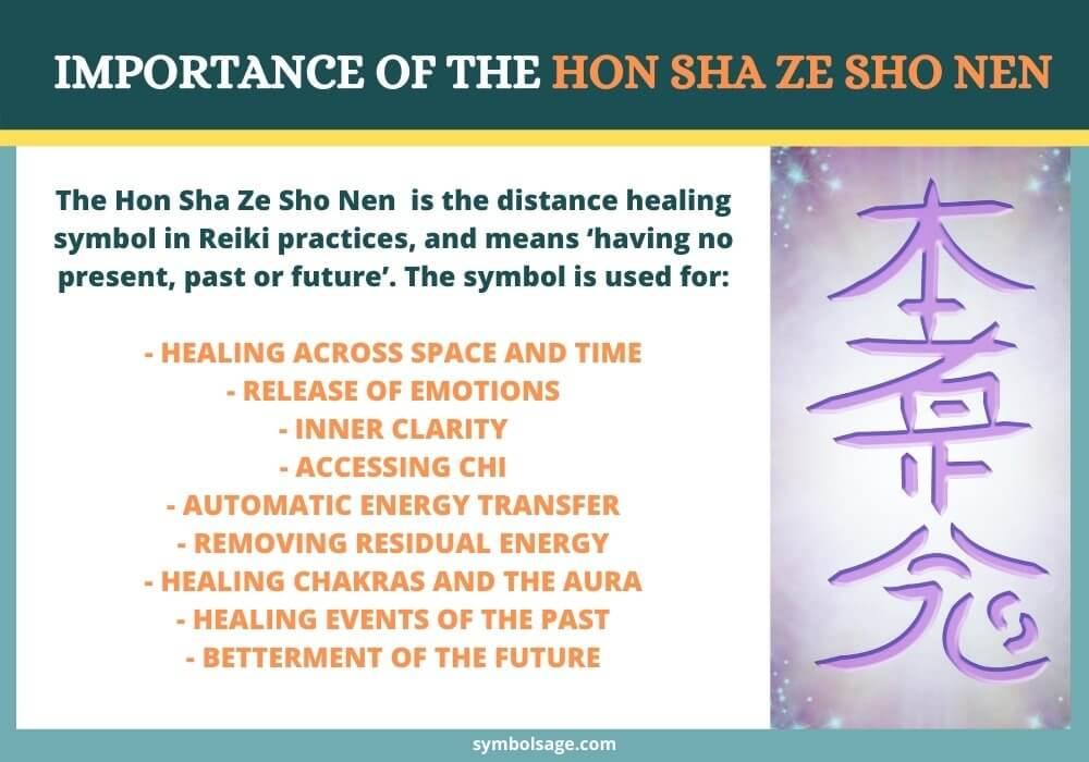 uses of reiki distance symbol Hon Sha Ze Sho Nen