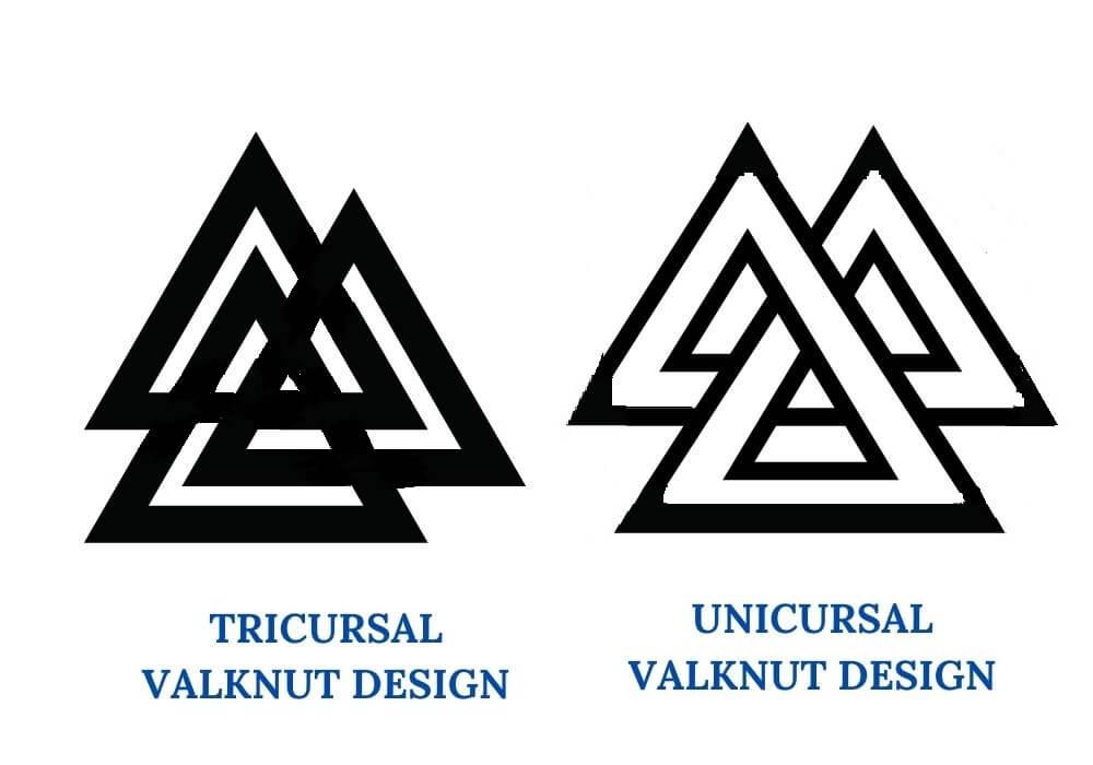 Valknut variations symbol