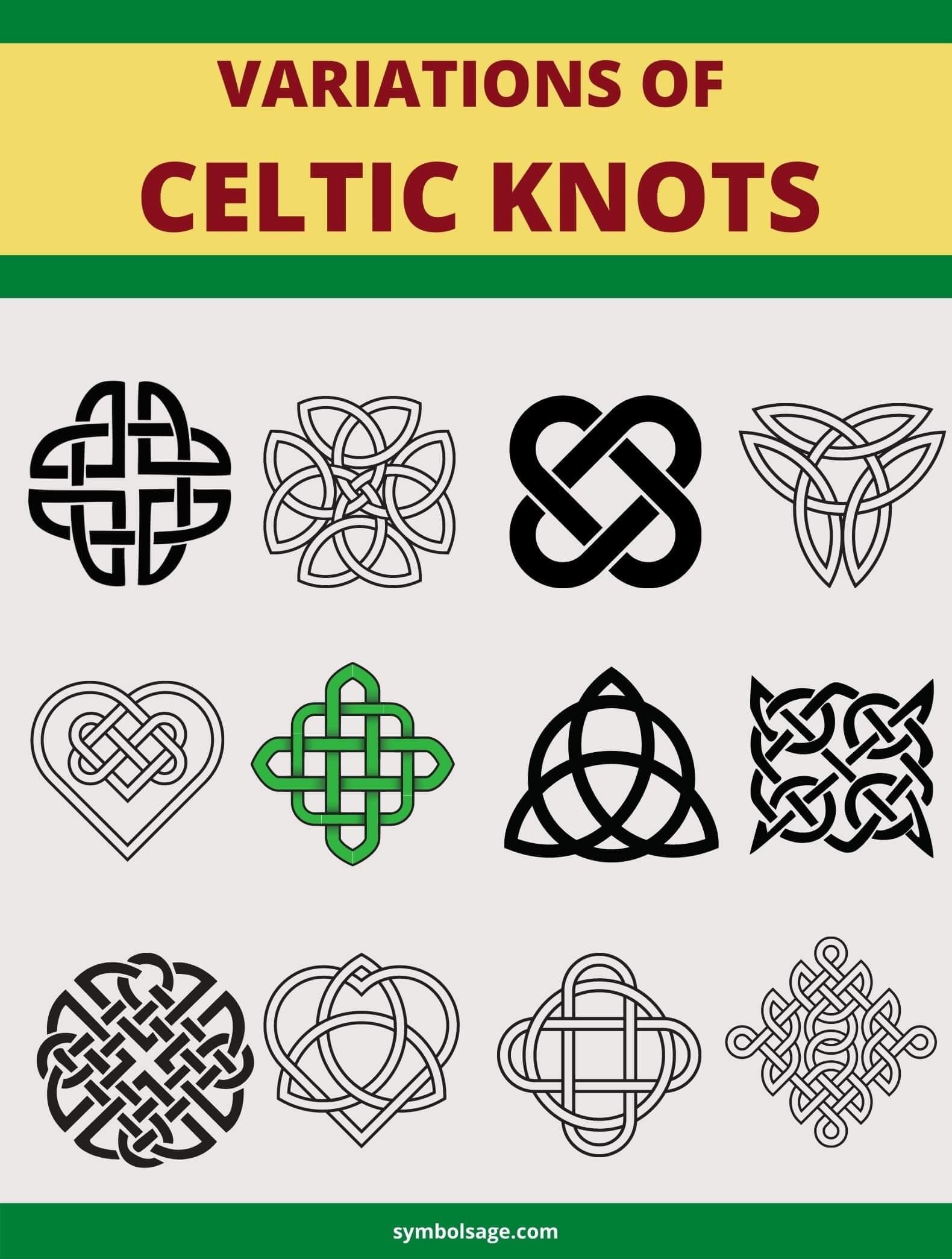 Variations of Celtic knots