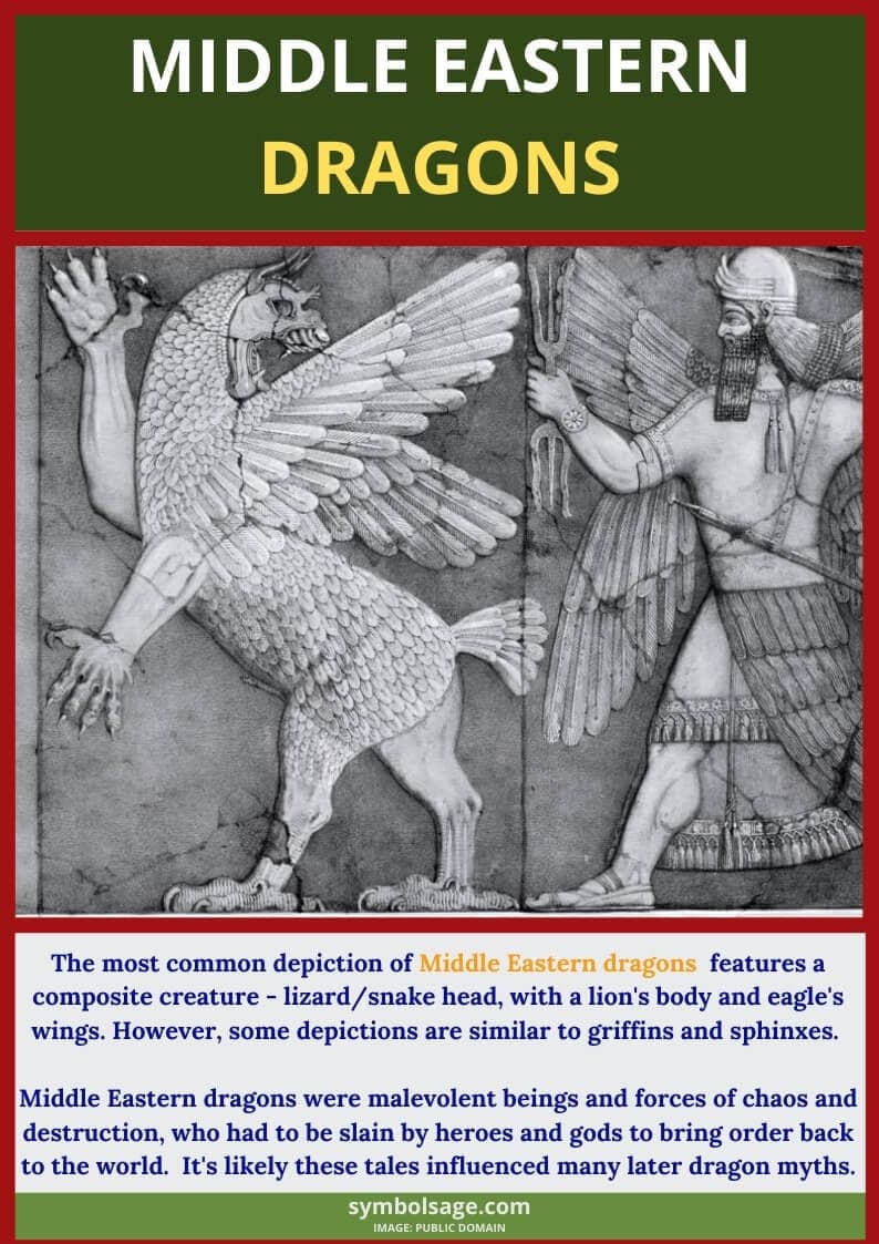 What are middle eastern dragons
