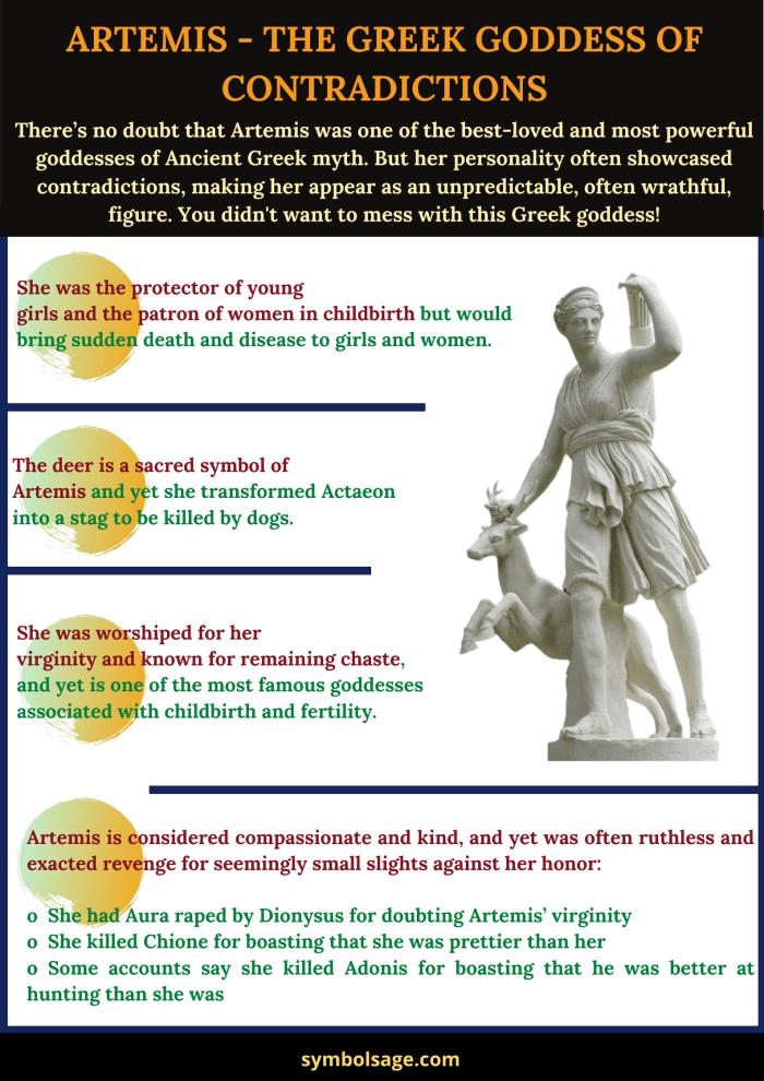 Artemis goddess contradictory aspects