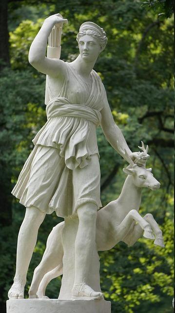 Artemis with deer