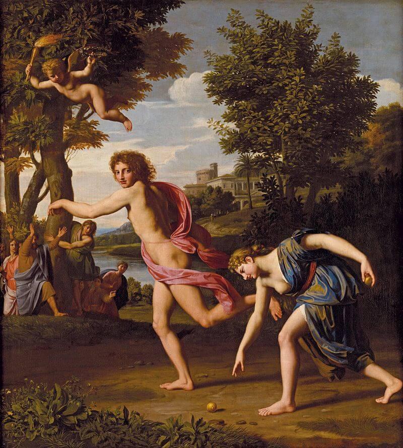 Atalanta and Hippomenes race