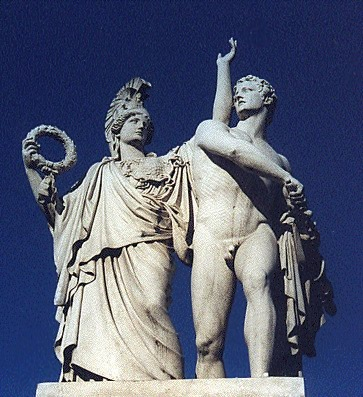 Athena helps Diomedes