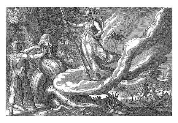Cadmus kills the dragon