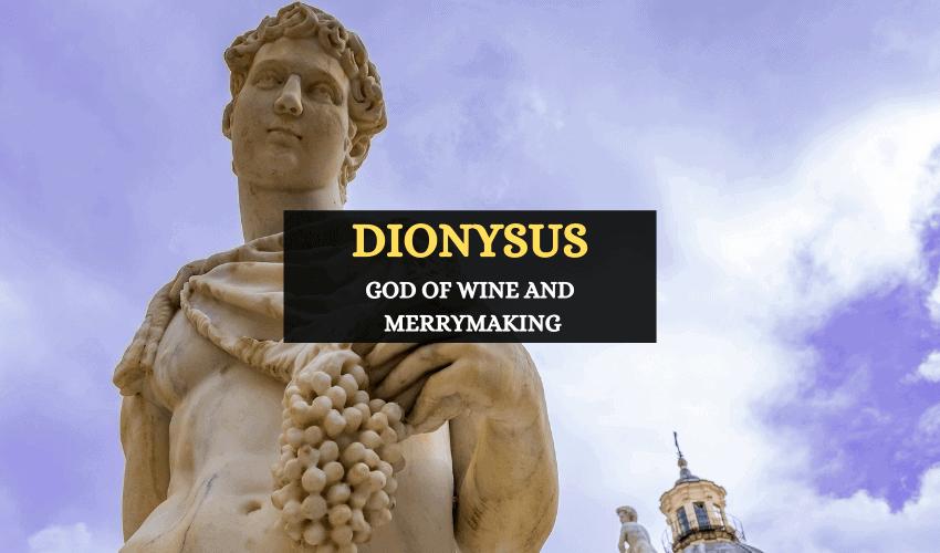Dionysus Greek god of wine